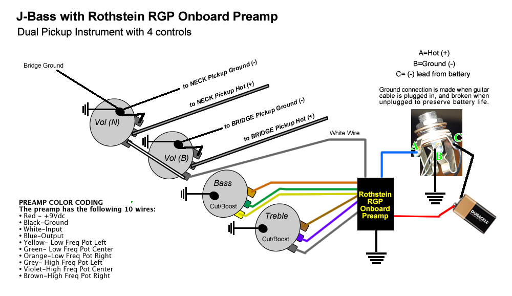 diagram_2pup_4pot_plain fender jazz bass pickup wiring diagram wiring diagram and Seymour Duncan Humbucker Wiring Diagrams at nearapp.co