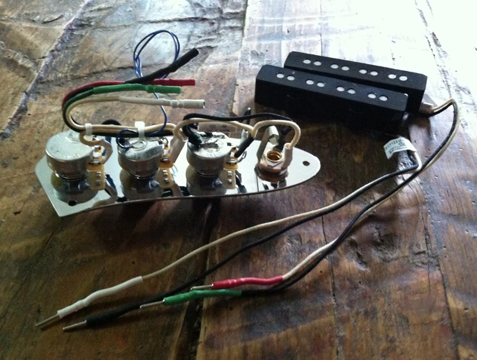 Prewired JBass Assembly Passive Rothstein Guitars