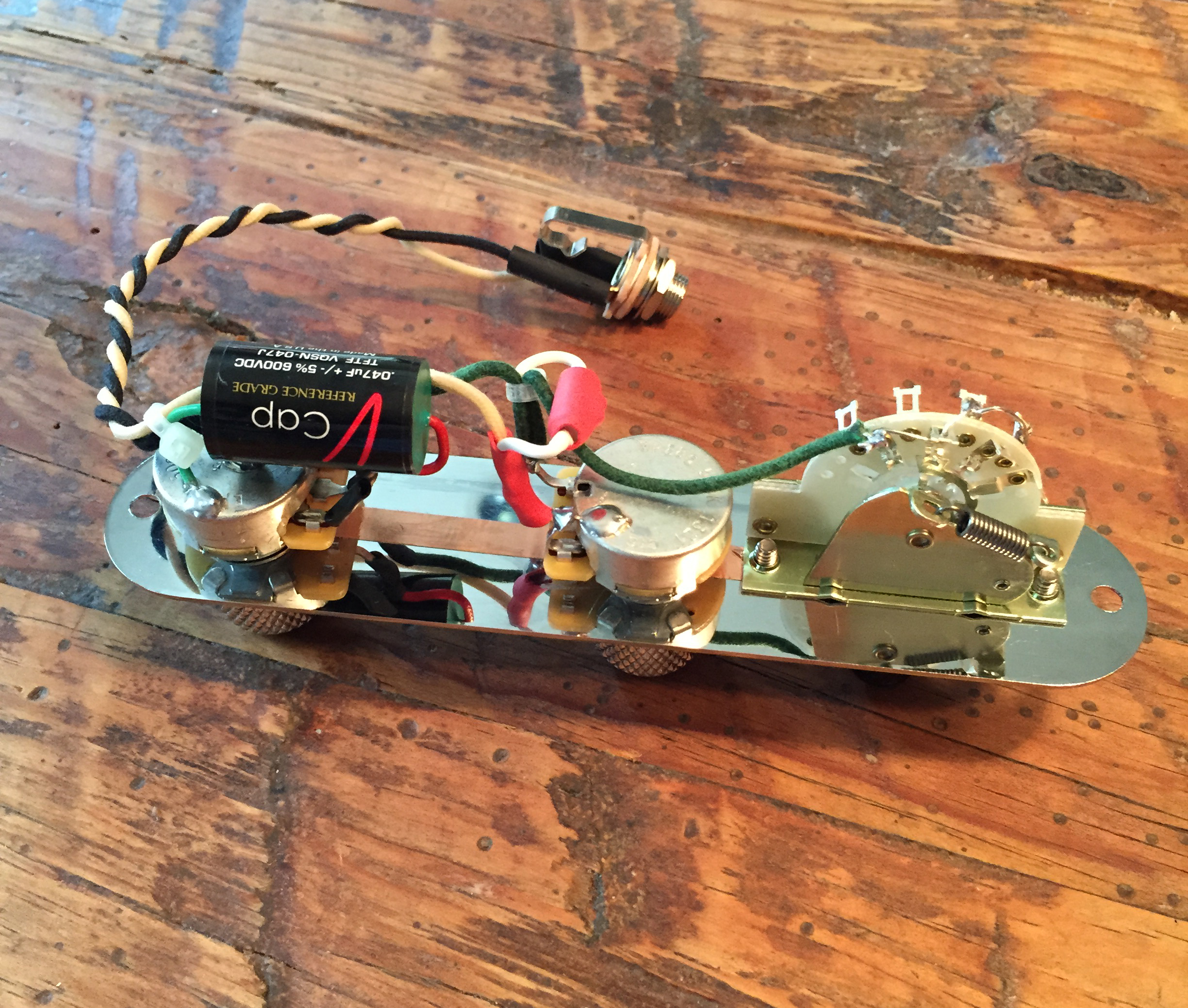 Prewired Tele Harness Rothstein Guitars For The Neck Tone And 02 Mfd Capacitors Bridge Control