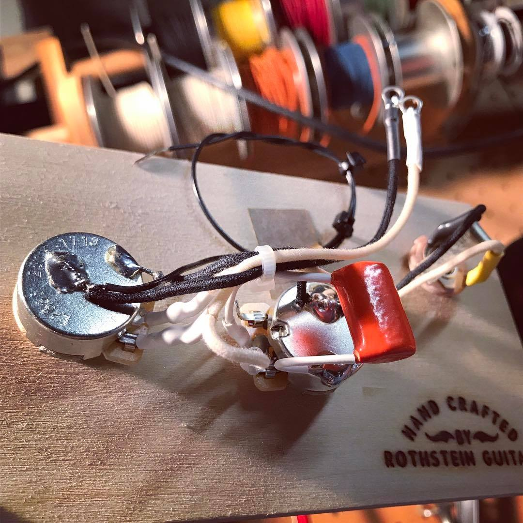 Prewired P Bass Assembly Passive Rothstein Guitars Gibson Les Paul Pots Wiring Switch Coil Tap With 15db Boost Solderless