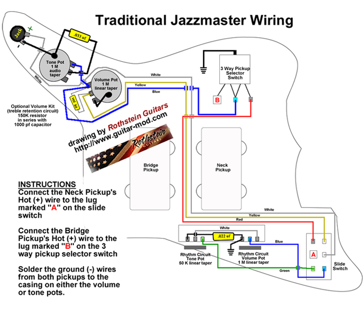 Fender jaguar wiring mods wiring diagram rothstein guitars u2022 jazzmaster wiring diagrams rh guitar mod com fender jaguar bass wiring diagram fender swarovskicordoba Image collections