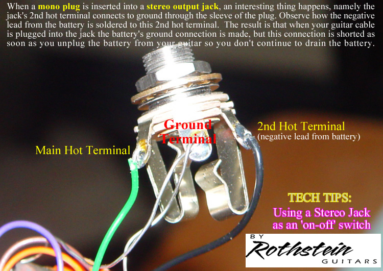 rothstein guitars • serious tone for the serious player guitar jack wiring stereo guitar jack wiring